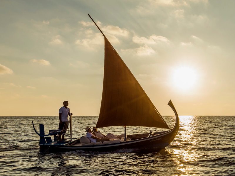 Picture of Romantic Sailing by Traditional Dhoni